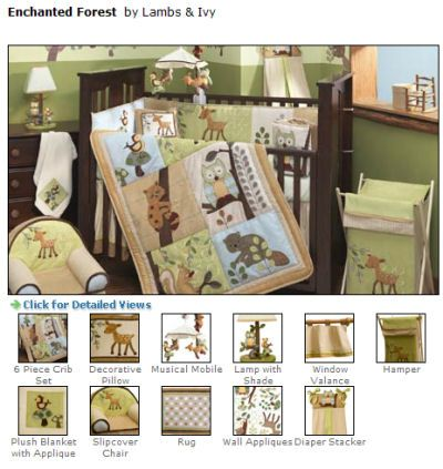 Image Detail For Point Out The Baby Deer Or Enchanted Forest Bedding Set By Lambs