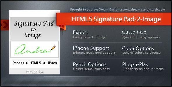 Nice Html5 Signature Pad To Image Html5 Pad Html5 Templates