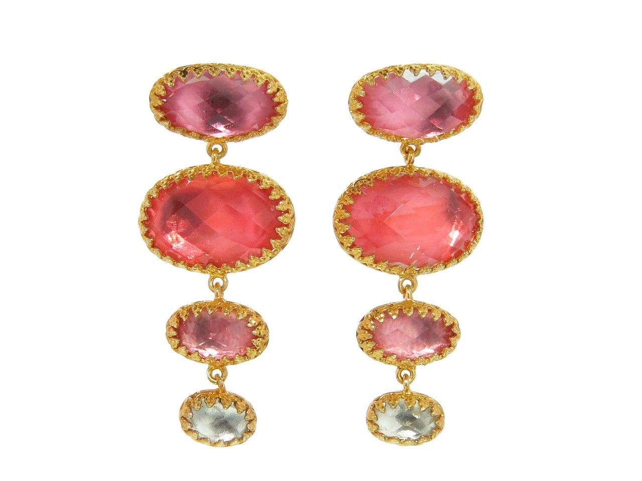 Small Handmade Tessa Earrings in Blush by Larkspur & Hawk, at Ylang 23
