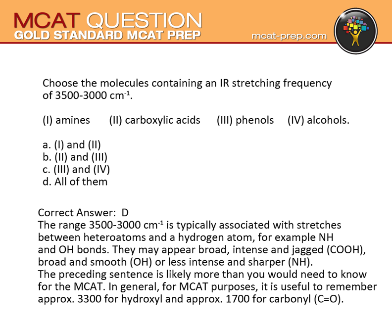 Gold standard mcat practice test question + solution and.