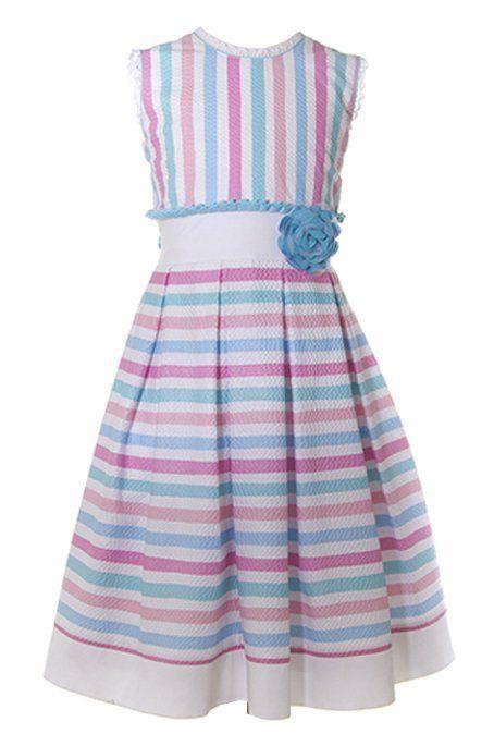 e990bd217c Vestido Jessy Franz  Vestido  JessyFranz  Niña  Girls  Rayas  Moda  Fashion   Sears