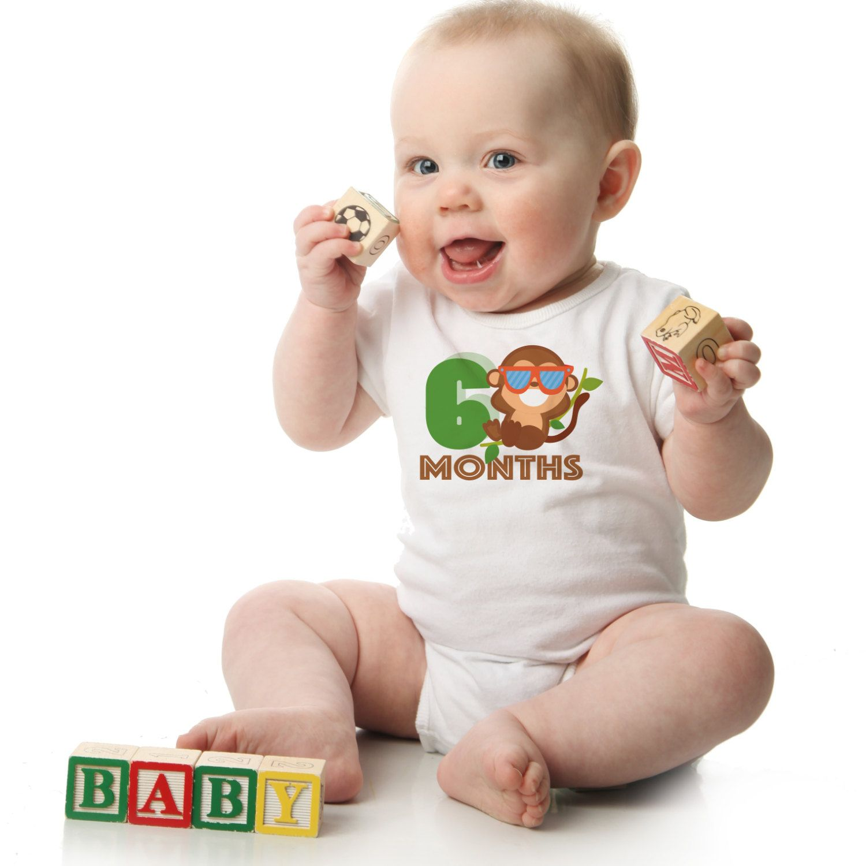 Monkey Monthly esies 12 Month Set of esies Best Baby Shower