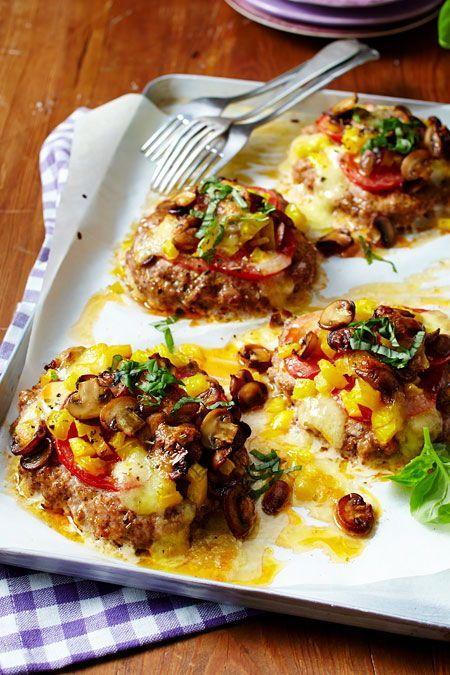 Photo of Meatball pizzas with tomato and mozzarella recipe DELICIOUS