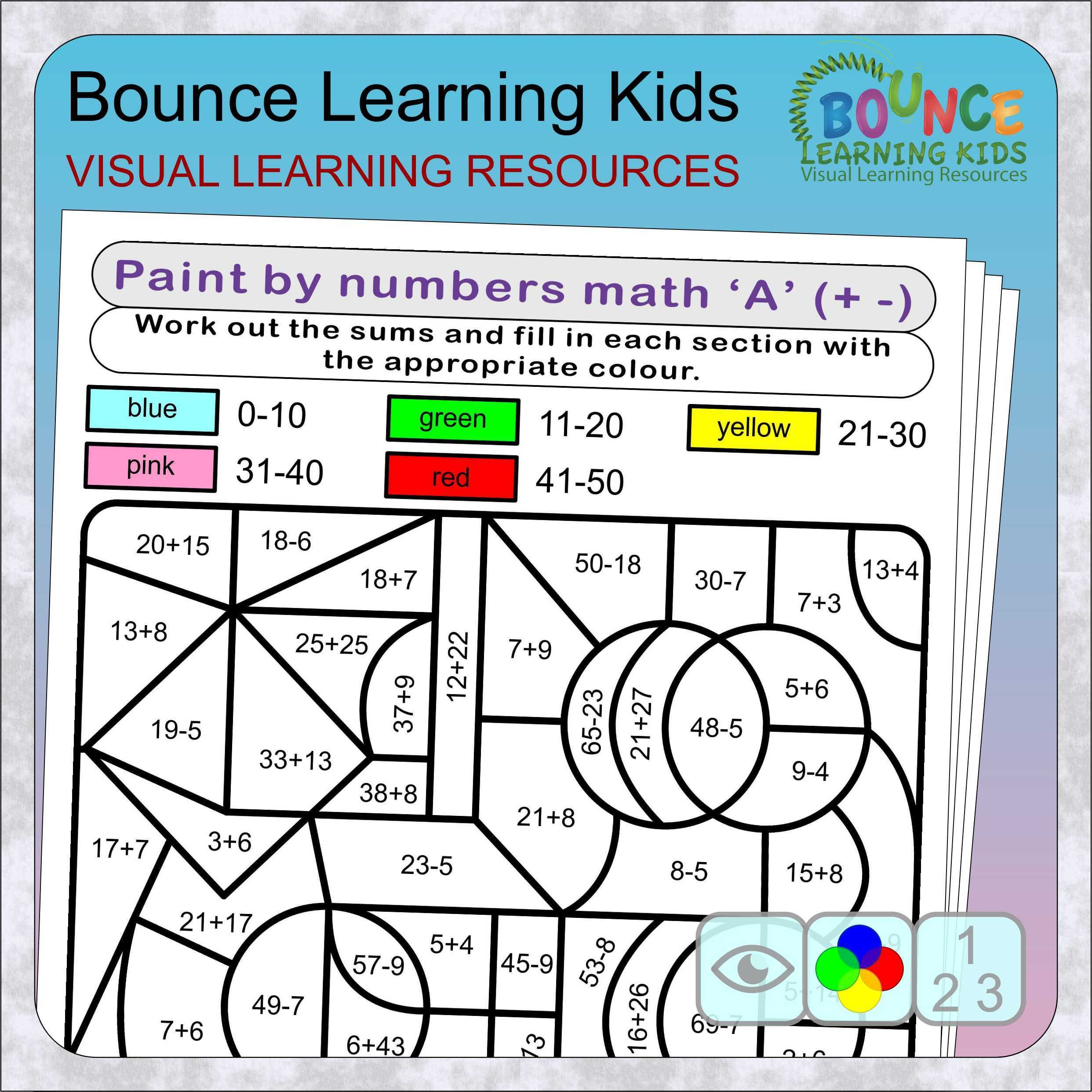 Paint By Numbers Fun Math Puzzles 7 Distance Learning