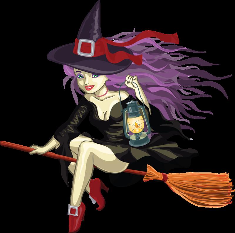 Картинка с ведьмой на метле с надписью, учитель школа