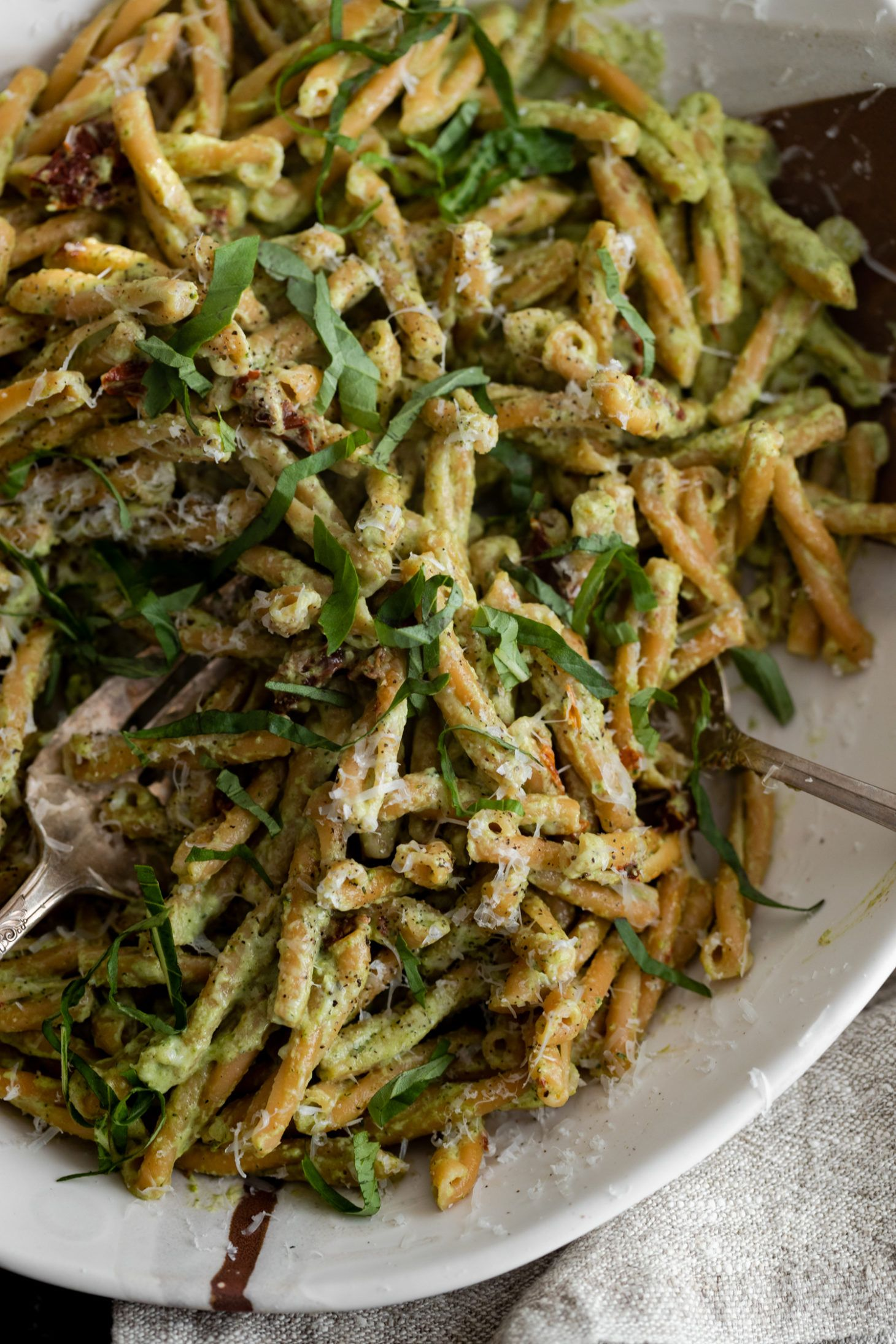 Broccoli Pesto Pasta With Chickpea Casarecce