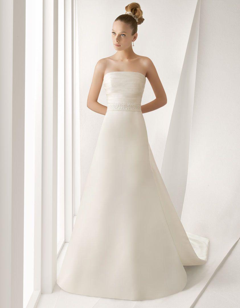 ALADA - Vestido de novia de raso con adorno de pedrería con chaqueta ...