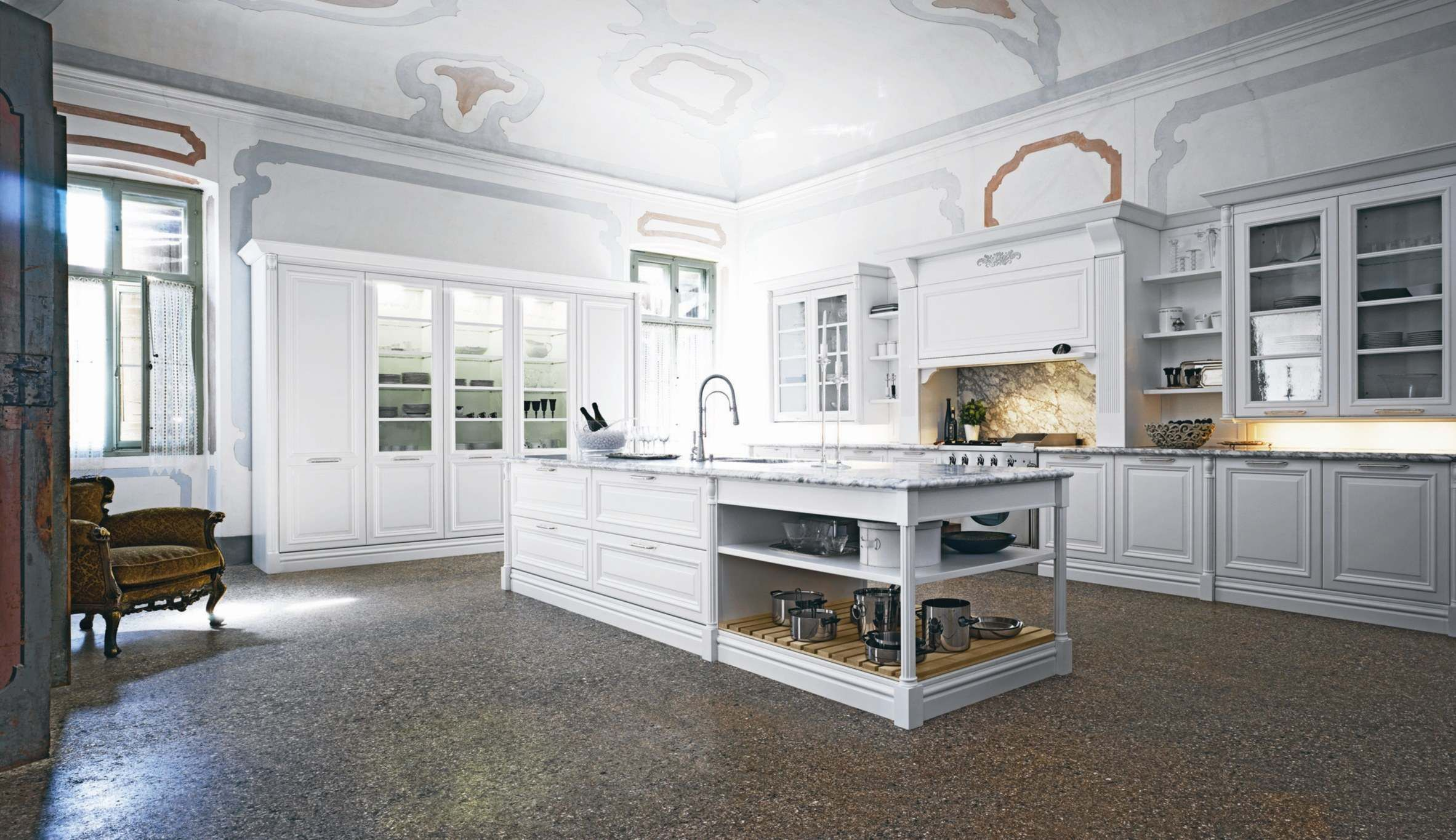 Island With Overhang No Toe Kick Love The Island Kitchen Design Traditional White White Modern Kitchen Traditional Kitchen Interior