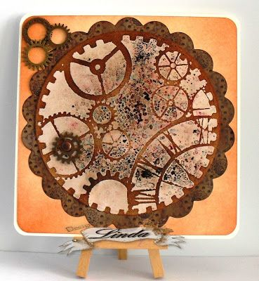 Linda's Crafty Piece of Heaven: Steampunk meets Colour Burst