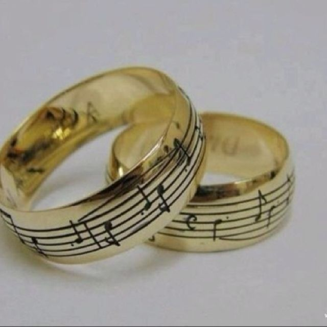 Cute Musical Wedding Bands Just Fun I Still Want A Diamond