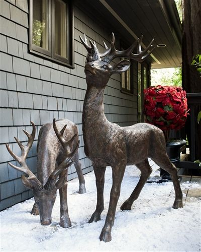 Standing Indoor Outdoor Deer Balsam Hill Christmas Deer Decorations Deer Decor Outdoor Christmas