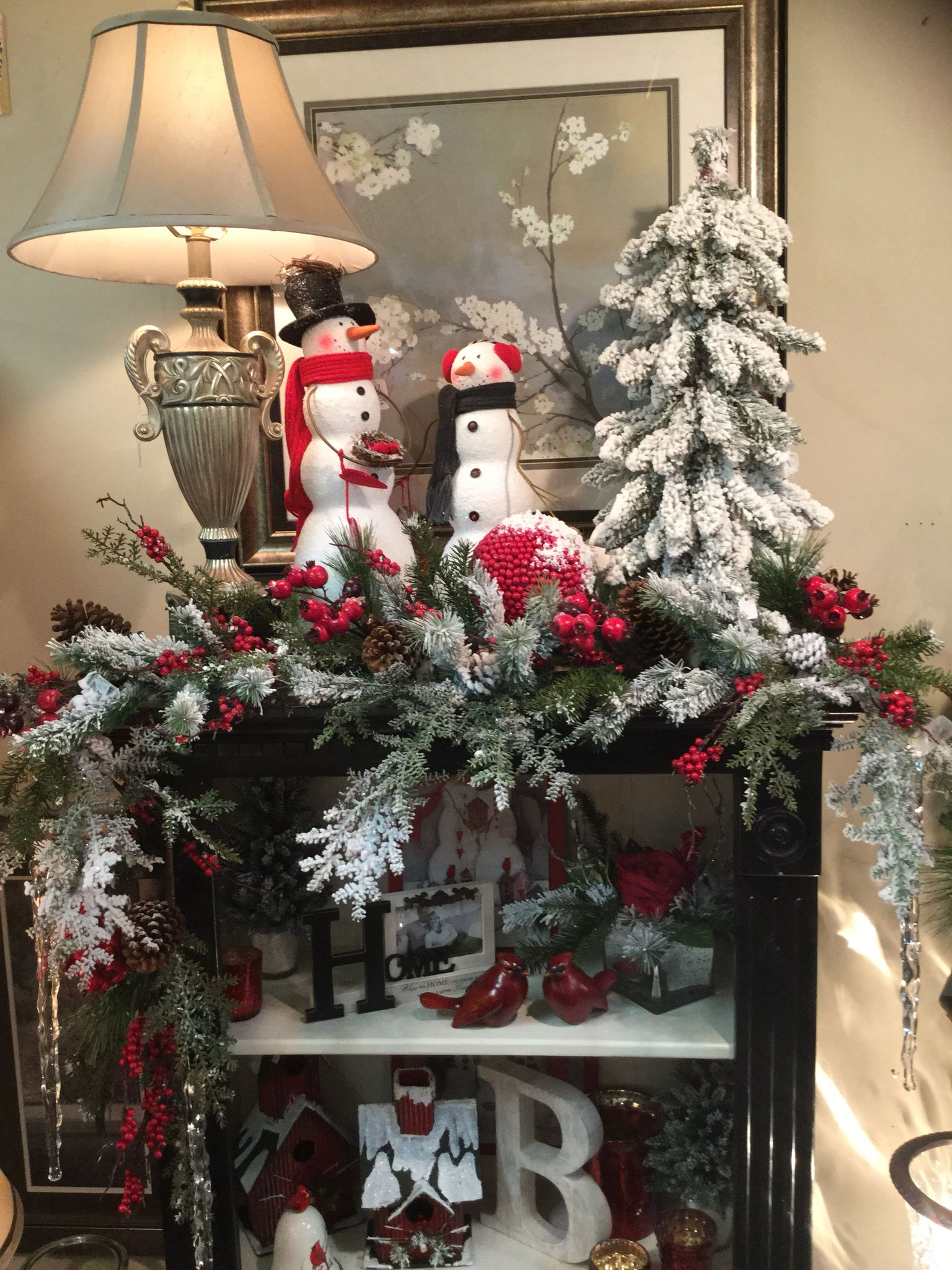 Red And Gray Christmas Decor