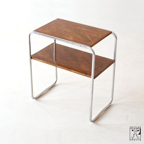 Bauhaus tubular steel shelf Steel furniture, Geometric