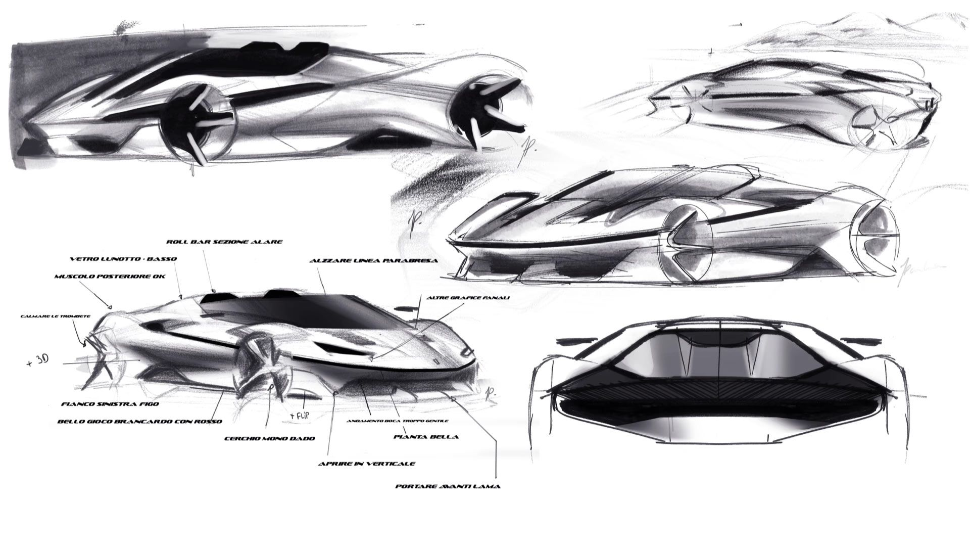 Ferrari J50 Design Sketches With Images Car Interior Sketch