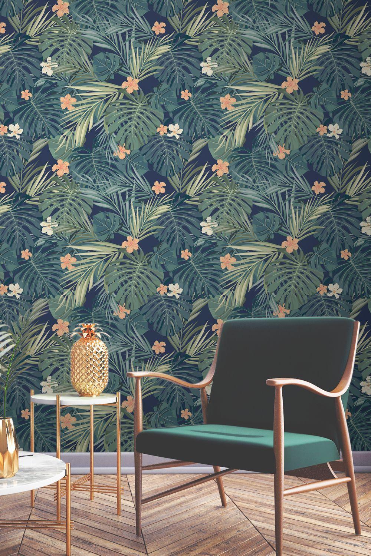 Tropical Bush Wallpaper Walls Wallpaper Tropical Wallpaper