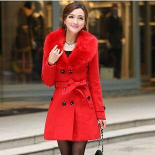 d77942dc07040 Plus Size M-5XL Winter Coat Women 2015 New Fashion Slim Big Fur Collar  Double