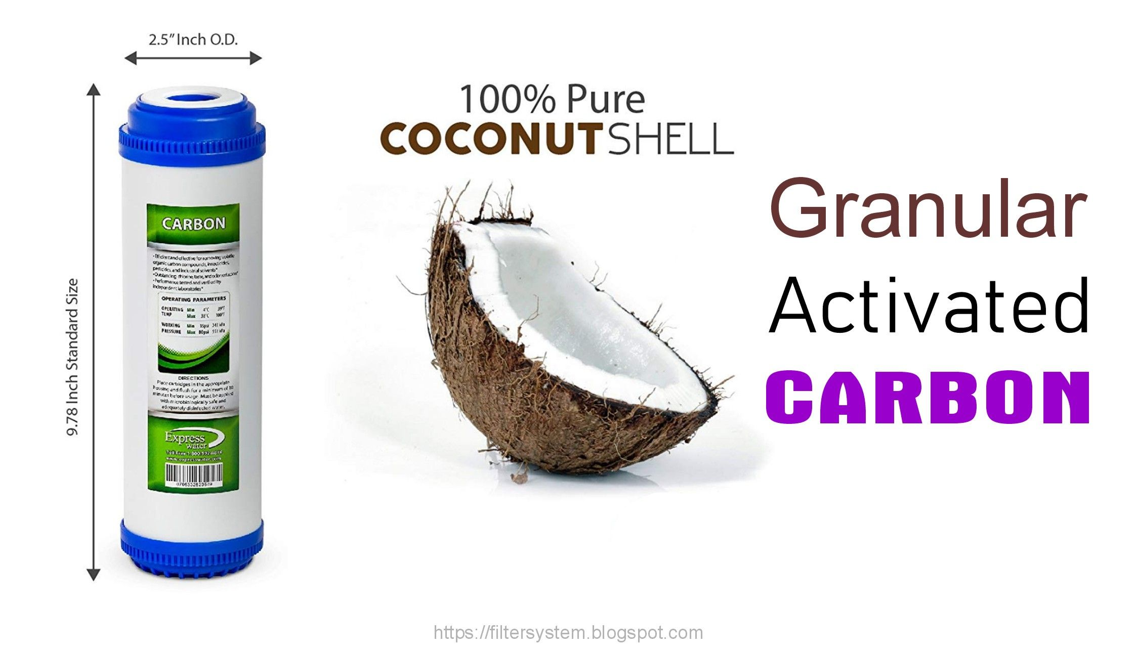 Granular Activated Carbon Activated Carbon Reverse Osmosis System Water Filter Cartridge