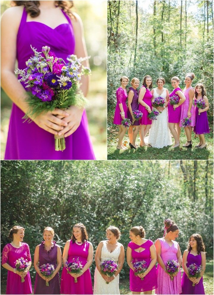 I love these bright purple bridesmaid dresses! by JoPhoto. See ...