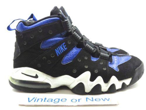 Nike-Air-Max-2-CB-94-Black-Varsity-Royal-Charles-Barkley-2004-sz-9-5 ... f52b43001