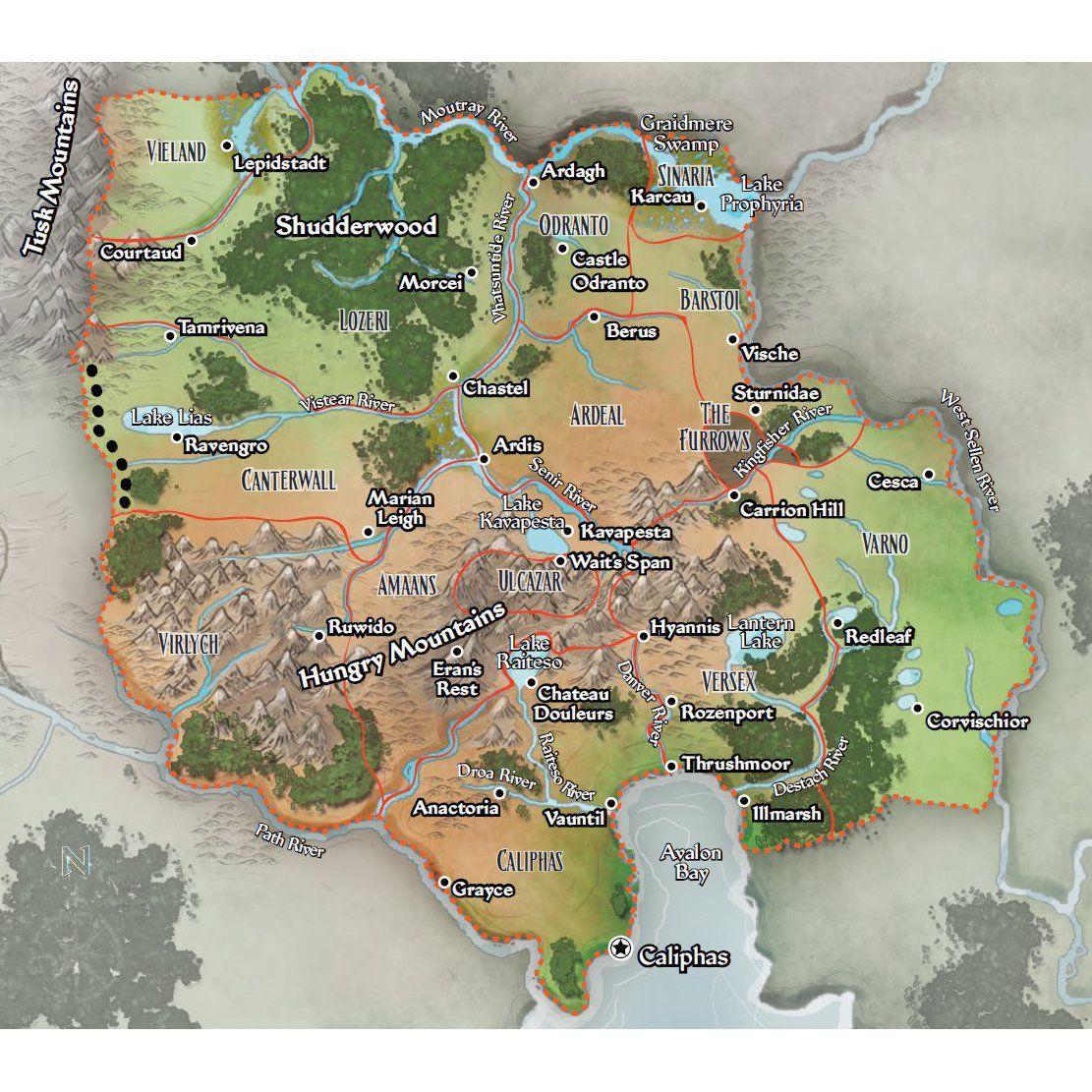 Ustalav Map (Pathfinder)