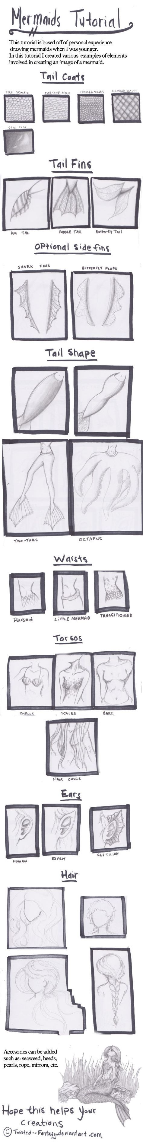 Art Ed Central loves this Mermaid Tutorial by Twisted--Fantasy on deviantART