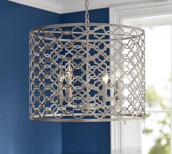 Pottery Barn Ceiling Light Fixtures: Delphine Trellis Pendant