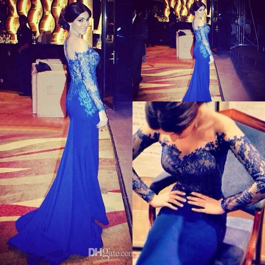 Wholesale Evening Dresses Buy y Royal Blue Mermaid