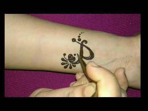 1694f330f6c9d P letter henna tattoo design || Alphabet P letter tattoo || Beautiful  mehndi design for hand - YouTube
