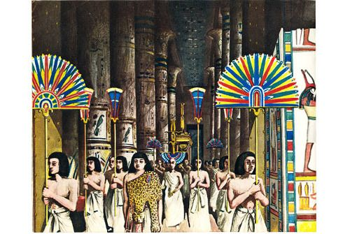 Illustration from The Building of Ancient Egypt (1955), a vintage Puffin Picture Book available to buy from brindled.co.uk