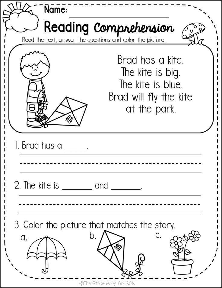 Kindergarten Reading Comprehension Passages Spring Reading Comprehension Kindergarten Reading Comprehension Passages Free Kindergarten Reading Spring comprehension worksheets
