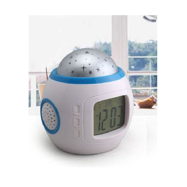 Creative Music Star Projector Musical Alarm Clock There are few things that will get your babe to sleep faster than the sound of a sweet lullaby. Add to that the tranquility and peace of the night sky, and your little one will be drifting off to dreamland in no time. This Creative Music Star Projector Musical Alarm Clock lights up the walls and ceilings with stars set to a gently playing soundtrack of soft sounds with timeless melodies. A heavenly setting for your sweet angel. ClockHome…