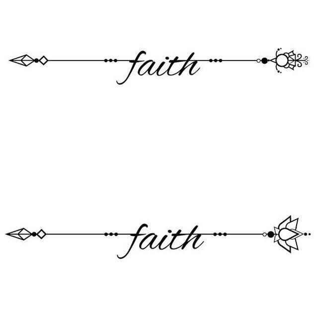 The Word Faith Tattoos