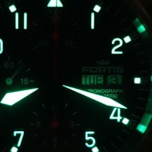 @fortisofficial Flieger chronograph in the dark #womw