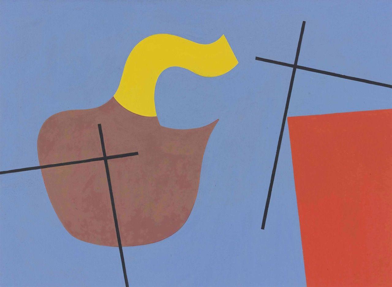 thunderstruck9: Sophie Taeuber-Arp (Swiss, 1889-1943), 2nd composition, 1932. Gouache on paper, 26 x 34.9 cm.