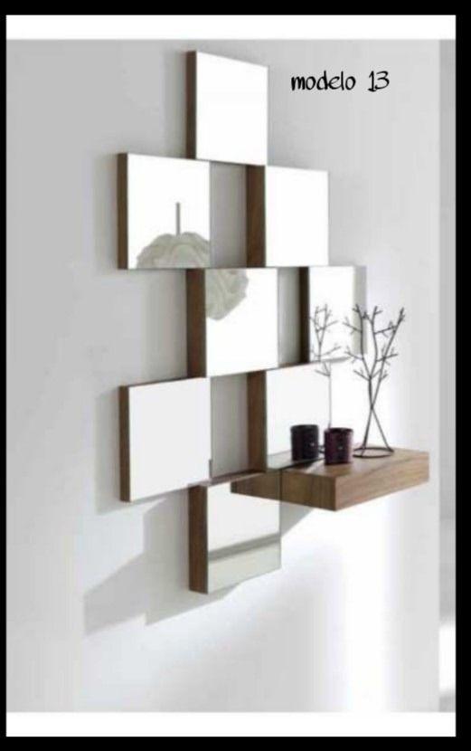 Espejos decorativos recibidores bs en mercado for Espejos decorativos cuadrados