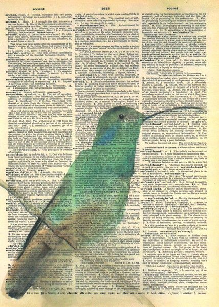 Watercolor On Old Book Pages Book Page Art Vintage Dictionary