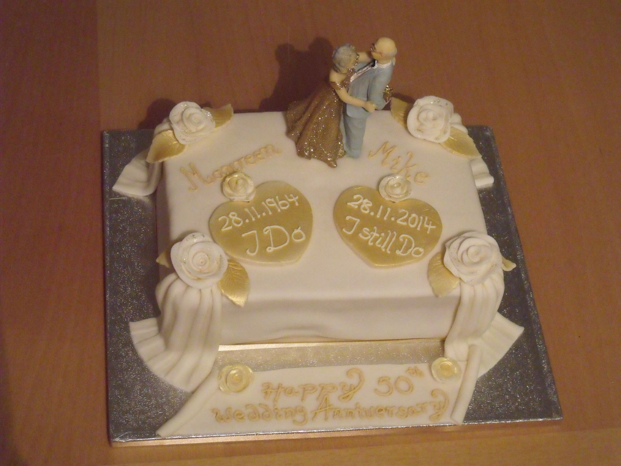 Golden wedding anniversary cake bolos pinterest wedding