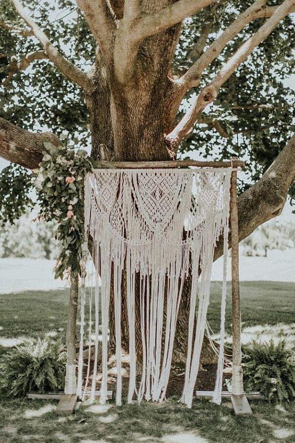 85 Stunning Bohemian Style Interior Design Ideas For Your: Wedding Macrame Backdrop Arch Bohemian Beautiful Boho