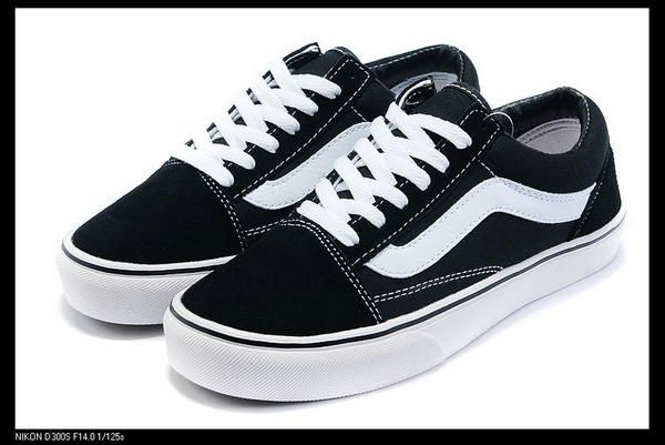 vans skate low black