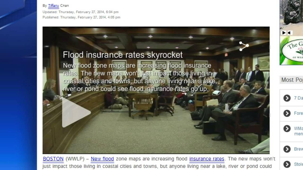 Alert flood insurance rates to skyrocket after fema
