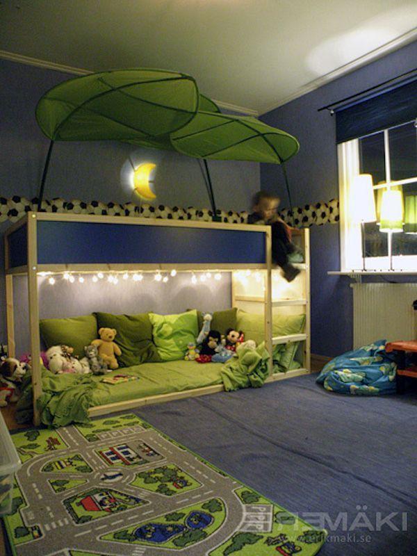 Lit IKEA mi hauteur guirlande lumineuse | Beliches legais