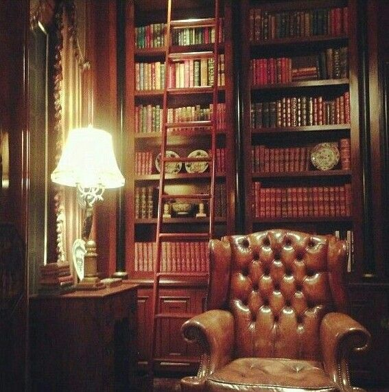 Victorian Library Room: Timeless Peaceful Setting... The Library.