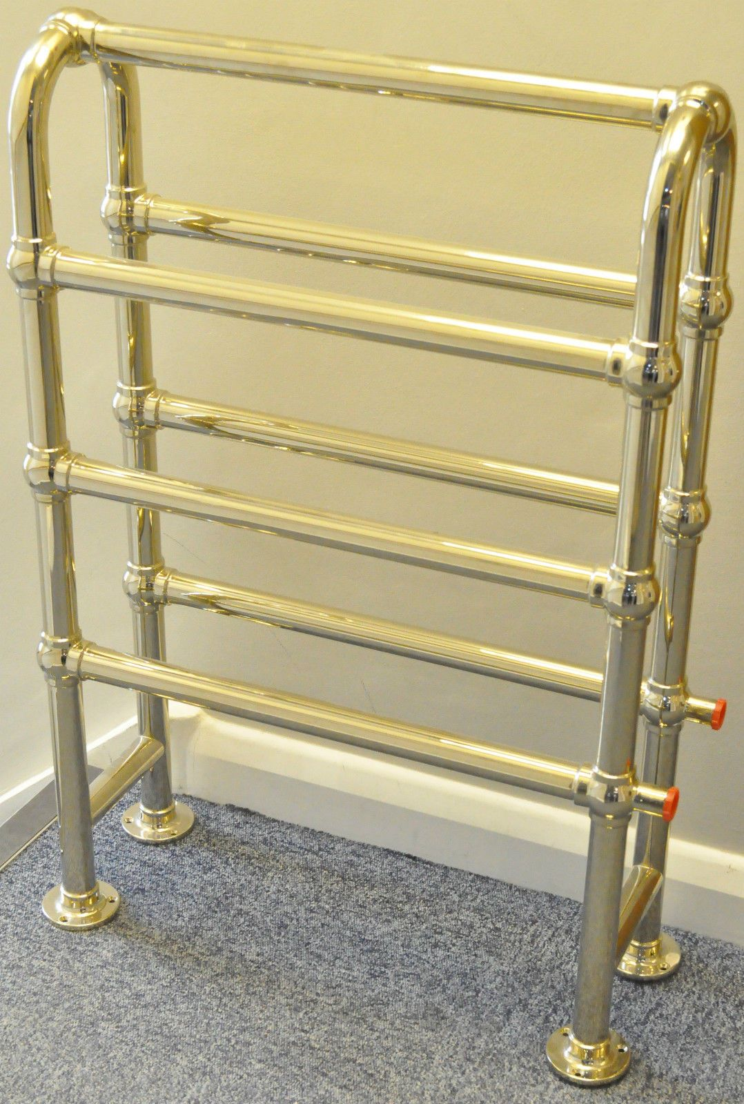 Traditional victorian ball joint towel rack rail heater radiator