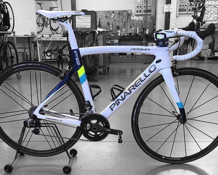 Fausto Pinarello's personal road bike > Bike riding