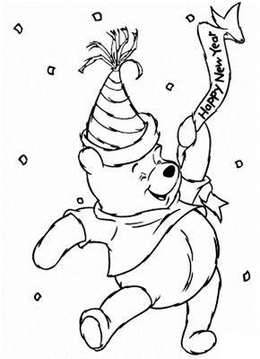 Imagenes para colorear de navidad y ano nuevo