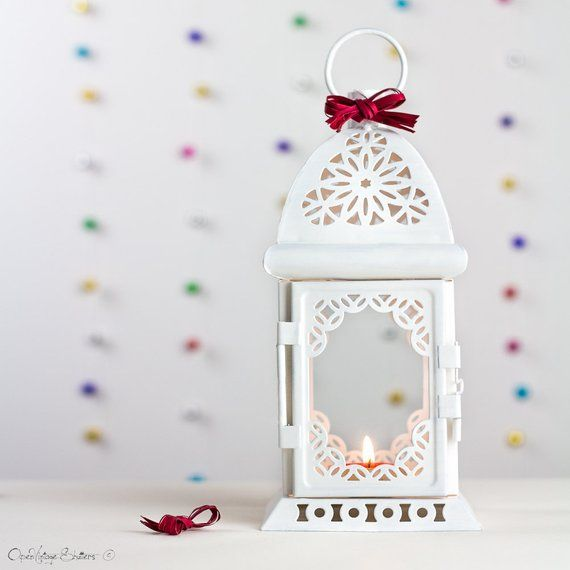 Photo of Unique Gifts for Her, White Lantern, Moroccan Candle Holder, Wedding Lanterns, Bridesmaid gifts, Birthday party