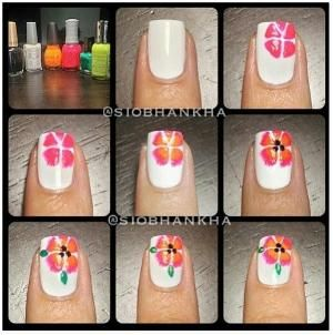 Flower Nail Art Tutorial By Amber Flower Nails Floral Nails Tutorial Flower Nail Art