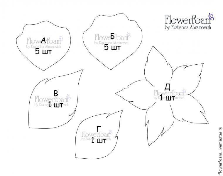 Выкройки для тюльпанов из фоамирана