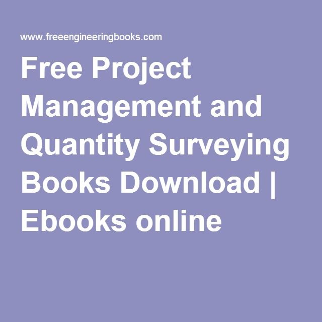 Free Project Management And Quantity Surveying Books Download