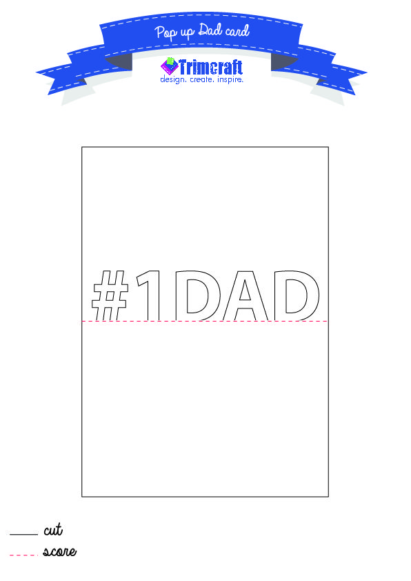 photograph about Printable Pop Up Cards named This Pop up #Father Card no cost printable template, ideal course